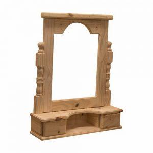 Porta espejo recto torneado