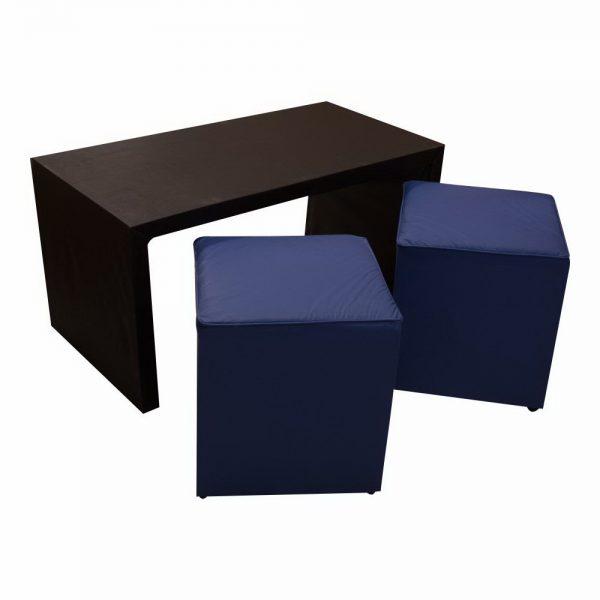 Puff grandes con mesa